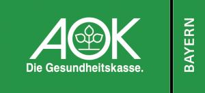 aok Bayern - die Gesundheitskasse Logo, Förderer der Gesunden Kommune Kaufbeuren